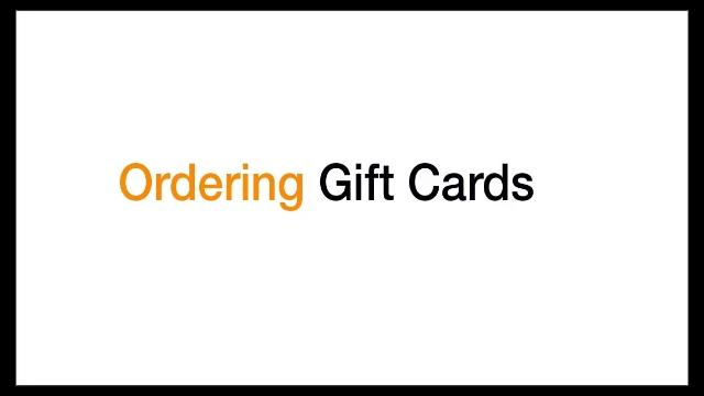 Om gåvokorten som kan beställas